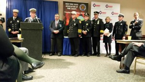 The presidents of several state fire service organizations met with state representatives May 4 on Fire Service Government Affairs Day in Albany.